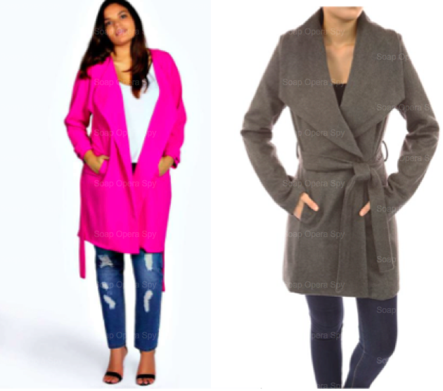 39 The Young And The Restless 39 Fashion Get Sharon Newman 39 S Deep Pink Wrap Coat For Less Sharon