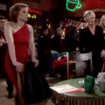 The Young and the Restless Style Get Phyllis Newman's Red One Shoulder Dress For Less - Gina Tognoni's Style 2