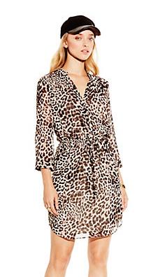 Vince C. Leopard Print dress