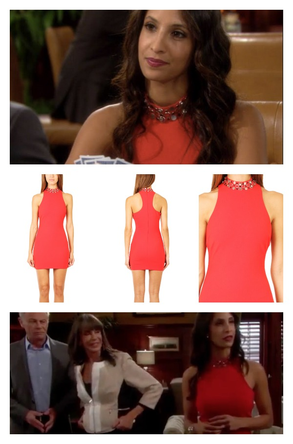 Young And The Restless Fashion Get Lily Winters Ashby 39 S Red Jeweled Color Dress For Less