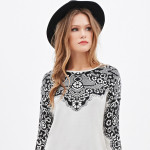 FOREVER 21 Lace Patterned Sweater