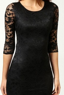 Get Summer Newman's Black Lace Dress For Less – Hunter King's Style Via BooHoo