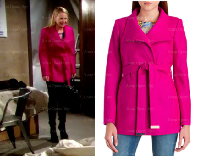 39 The Young And The Restless 39 Fashion Get Sharon Newman S Deep Pink Wrap Coat For Less Sharon